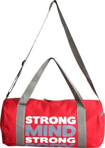 L'AVENIR RED - Strong Mind Strong Body Bag with side ZIPPERS Duffel