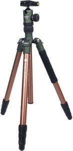 fotopro X-GO Chameleon 5ft Aluminum Professional Tripod Stand with FPH-52Q Ball Head for DSLR Camera Payload 8kg (Brown) Tripod Kit