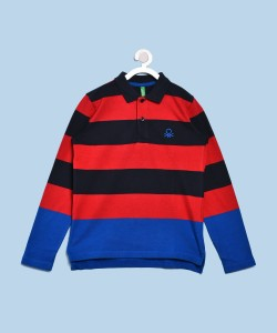United Colors of Benetton Boys Striped Cotton T Shirt