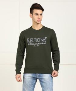 ARROW BLUE JEANS CO. Full Sleeve Printed Men Sweatshirt