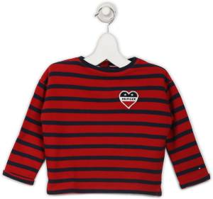 Tommy Hilfiger Full Sleeve Striped Baby Girls Sweatshirt