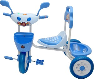 STEPUPP BABY TRICYCLE FOR KIDS WITH BACK BASKET WITH MUSICAL KIDS TRICYCLE BLUE COLOUR KIDS TRICYCLE RECOMMENDED TRICYCLE FOR BABY GIRL OR TRICYCLE FOR BABY BOY OR TRICYCLE FOR TODDLER GIRL OR TRICYCLE FOR TODDLER BOY RECOMMENDED FOR TODDLER 1,2,3,4,5 YEAR CHILDREN TRICYCLE FOR KIDS ST-BTC-052B-622 Tricycle