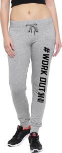 JONTY CLOVIS Printed Women Grey Track Pants
