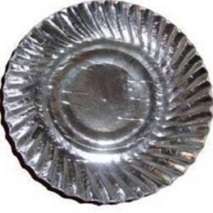 SSD Silver Coated Disposable Paper Plate 10 Inches 100 Pieces Plate