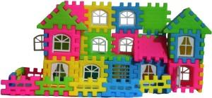 Effe Shoppe 44 Bricks and Blocks - Small Home Building Blocks for Kids Creativity (44 Pcs)