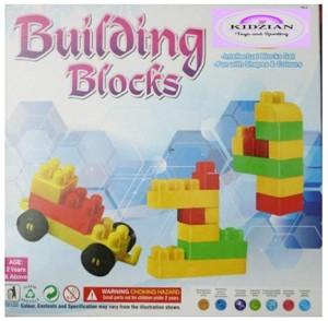 KIDZIAN Building Blocks-Block Construction Set For Kids