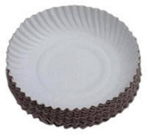 SSD Disposable White Paper Plate 7 inches 100 pieces Plate