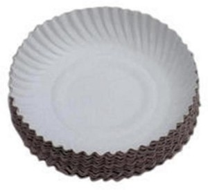 SSD Disposable white Paper Plate 7 inches 50 pieces Plate