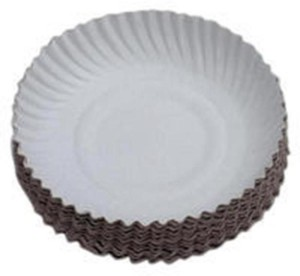SSD Disposable White Paper Plate 10 Inches 50 Pieces Plate Plate