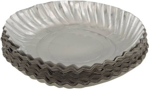 SSD Silver Coated Disposable Paper Plate 8 Inches Pieces Plate