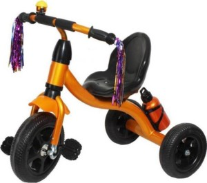 kayoksh BABY TRICYCLE FOR KIDS WITH BOTTLE GOLDEN COLOUR KIDS TRICYCLE RECOMMENDED TRICYCLE FOR BABY GIRL OR TRICYCLE FOR BABY BOY OR TRICYCLE FOR TODDLER GIRL OR TRICYCLE FOR TODDLER BOY RECOMMENDED FOR TODDLER 1,2,3,4,5 YEAR CHILDREN TRICYCLE FOR KIDS KY-GLB{LBS}-0022 Tricycle