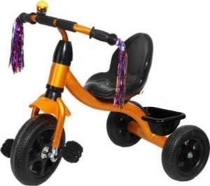 kayoksh BABY TRICYCLE FOR KIDS WITH BASKET GOLDEN COLOUR KIDS TRICYCLE RECOMMENDED TRICYCLE FOR BABY GIRL OR TRICYCLE FOR BABY BOY OR TRICYCLE FOR TODDLER GIRL OR TRICYCLE FOR TODDLER BOY RECOMMENDED FOR TODDLER 1,2,3,4,5 YEAR CHILDREN TRICYCLE FOR KIDS KY-GOLDEN/BLACK/BASKET-LBS-033 Tricycle