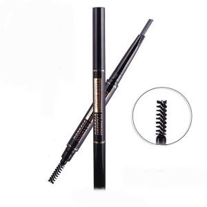 iba halal care Skin Liquid Foundation Natural Beige with 2 in 1 Eyebrow  Pencil with Eye Brows Brush Waterproof and Long-lasting dark brown 03 (dark