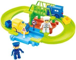Webby Batterty operated Block Train Track set 15 pcs