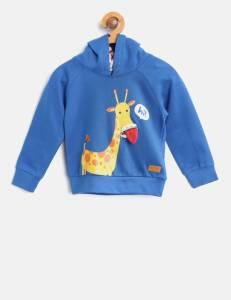 NautiNati Full Sleeve Self Design Boys Sweatshirt