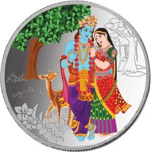 Taraash Taraash 999 Silver Radha Krishna 50 gm Premium Coin CF9R9G50 With Gift Packaging S 999 50 g Silver Coin