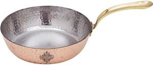 IndianArtVilla Steel with Copper Plated Serving Sauce Pan, Diameter -16.25 Sauce Pan 5 cm diameter