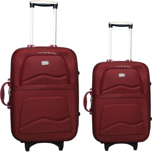 VIDHI Luggage Combo Set (Pack of 2) Maroon Trolley Bag 20