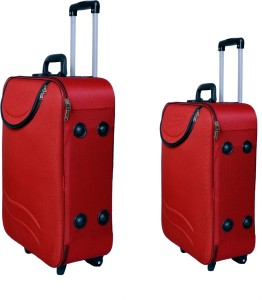 New Jersey Travellers Safari Style /Travel/ Tourist Bag/Suitcase Trolley Check-in Luggage - 24 inch
