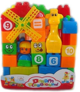 Trends Maker Building Blocks for kids (Multicolor) 35 pcs