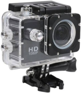 nick jones 1080 P action camera 1080P 2-inch LCD 140 Degree Wide Angle Lens Waterproof Diving Sports and Action Camera APC04 (MULTICOLOUR) Sports and Action Camera