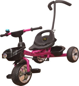 Bajaj Baby Product Tricycle for Baby Newly Launched With Back Front and Back Side Basket and Parent Handle For Pushing Recommended for New Born 1,2,3,4,5 Years Old Children Musical Tricycle for Baby Boys & Girls Gifts Tricycle for Kids, Tricycle for baby, Baby tricycle Pink-Handle Tricycle