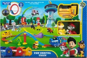 AS.TOYS Paw Patrol Orbital Construction Train Track Set Toy (Multicolor)