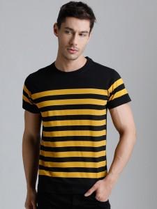 Dillinger Broad Stripes Men Round Neck Black T-Shirt