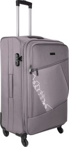 Nasher Miles Bogota Expander Soft Side Cabin Luggage| Grey 20 Inch /55CM Trolley/Travel/Tourist Bag Expandable  Cabin Luggage - 20 inch