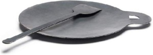 Aboo metals 1kg Iron Dosa Tawa 10inch With Dosa Turner Cookware Set