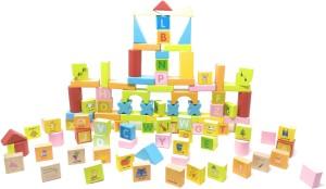 Akrobo 100 Pc Wooden Blocks for Kids