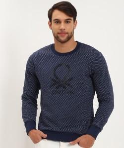 United Colors of Benetton Full Sleeve Printed Men Sweatshirt