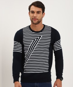 United Colors of Benetton Full Sleeve Striped Men Sweatshirt