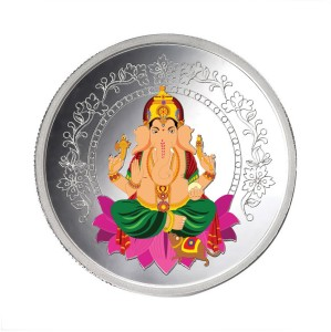 Taraash Taraash 999 Sterling Silver God Ganpati 20gm Coin For Gifting CF10R3G20C With Gift Packaging S 999 20 g Sterling Silver Coin