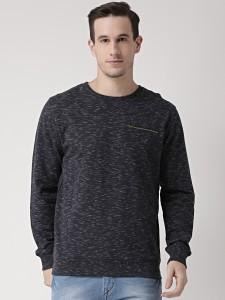 Club York Full Sleeve Self Design Men's Reversible Sweatshirt
