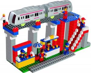 Nightstar Metro Station Building Blocks set For Kids(Min. Age 4 Yrs)