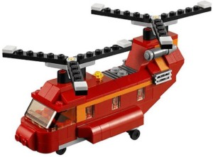 Sanyal 145 Pcs 3 in 1 Architect Red Rotors Helicopter Block Construction Set Toy(Multicolored)