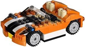 Sanyal 119 Pcs 3 in 1 Architect Sunset Speeder Car Block Construction Set Toy