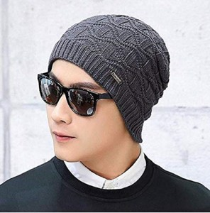 38f3b97ed8f6ae HANDCUFFS Unisex Winter Warm Knitting Hats Wool Baggy Slouchy Beanie Hat  Skull Cap Men/Women Cap