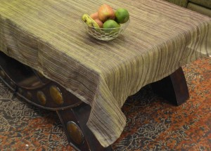 Rhome Striped 4 Seater Table Cover
