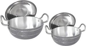 bartan hub kadhai set with lid (2500ml,1000ml) Cookware Set