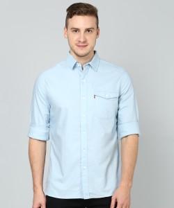 Levi's Men's Solid Casual Light Blue Shirt