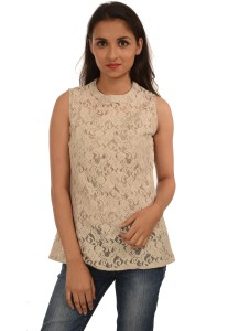 Harbinger Designs Formal Sleeveless Lace Women's White Top
