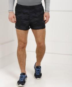 ADIDAS Printed Men Black, Grey Sports Shorts