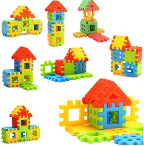 B I S W A S Happy Home House Building Block Toys for Kids (Multicolour) | Best Quality