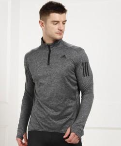 ADIDAS Full Sleeve Self Design Men's Sweatshirt