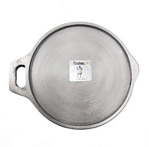ekitchen 10-inch/ 26cm Cast Iron Flat Tawa Tawa 26 cm diameter