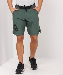 REEBOK Solid Men Green Sports Shorts
