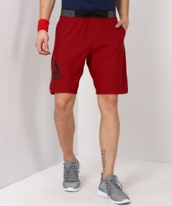 REEBOK Solid Men's Maroon Sports Shorts
