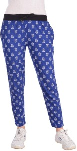 Diaz Printed Women Blue Track Pants